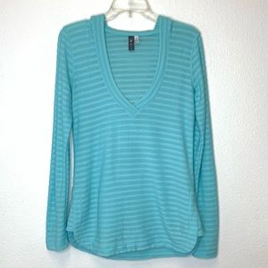 Ibex Wool Blend Base Layer in Light Blue Size S